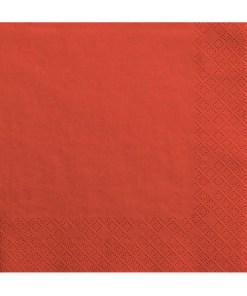 Servietten, rot, dreilagig, 20 Stk., 33 x 33 cm