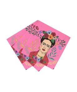 Servietten_Frida Kahlo gefächert ausgelegt