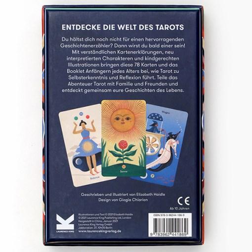 Tarot_fuer_jedes_Alter, 78 Karten, Booklet, 108 x 160 x 55mm, Box Rueckseite