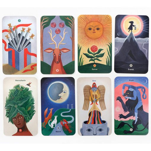 Tarot_fuer_jedes_Alter, 78 Karten, Booklet, 108 x 160 x 55mm, Karten gelegt