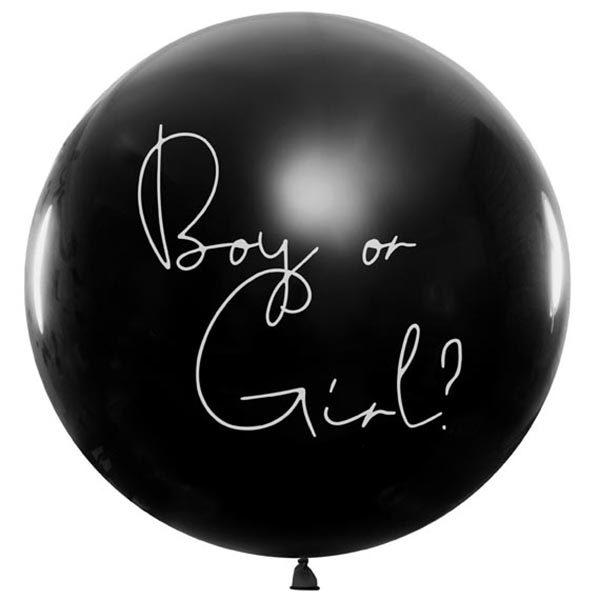 Ballon, Ueberraschungsballon, Gender Reveal,- Boy. 1m, 01