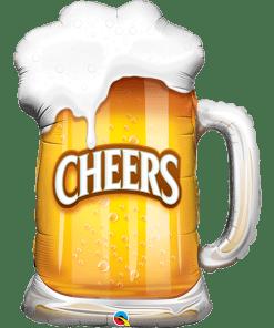 Cheers, Bier im Glas, Folienballon, H89cm