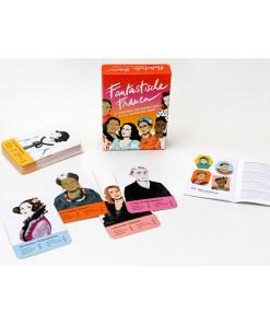 Fantastische Frauen, Kartenspiel, Box, 32 Karten, 119x158x40mm, Box, Booklet und Karten 2