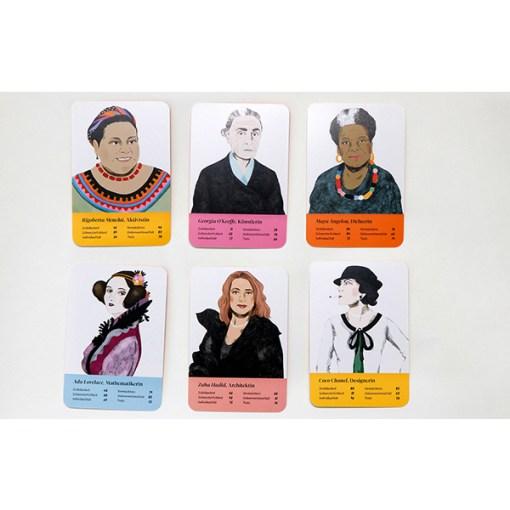 Fantastische Frauen, Kartenspiel, Box, 32 Karten, 119x158x40mm, Karten 1