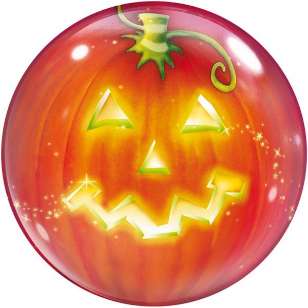 Halloween Kuerbis Folienballon Bubble D56cm