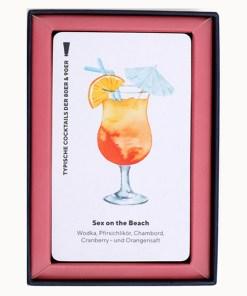 Happy Hour, Ein Cocktail-Spiel, Box, 52 Karten, 100x140x50mm, Box offen 2