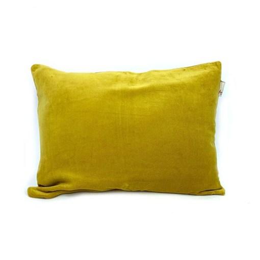 Kissen Shellia, mit Fuellung, senfgelb, Samt, 100Proz Baumwolle, 35 x 50 cm