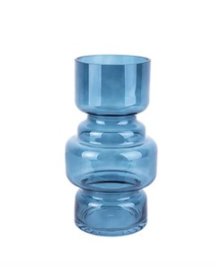 Vase 'Courtly' groß, dunkelblau, H 25 cm, D 14 cm