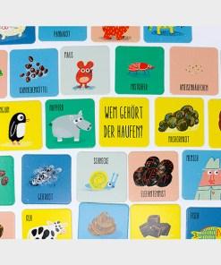 Wem gehoert der Haufen, Memo-Spiel, Box 54 Karten, 131x131mm, ab 3 Jahren, Kartenbeispiel 1