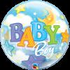 Baby Boy, Bubble mit Sternen, Folienballon, rund, 56cm