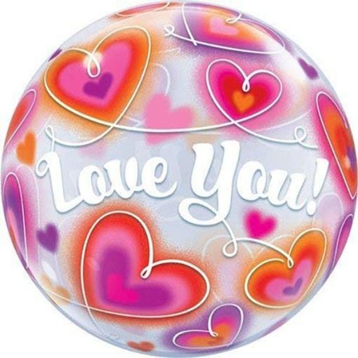 Bubble,Love You, Doodle Hearts, 56cm