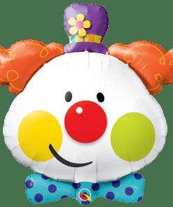 Clown mit Fliege, Folienballon, B91cm