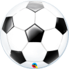 Fussball, Bubble, Folienballon, 56cm