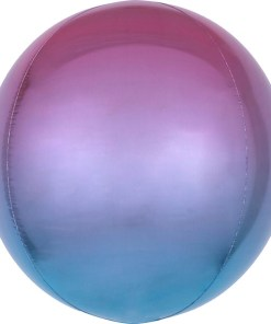 Kugel lila blau, Folienballon, 40cm
