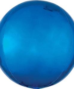 Kugel blau, Folienballon, 40cm