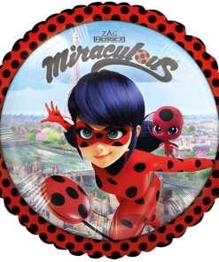 Miraculus - Ladybug, Folienballon, rund, 43cm
