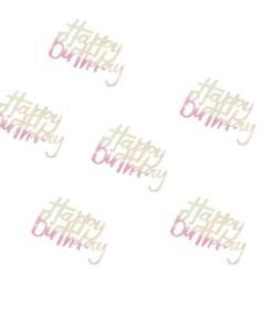 Schriftzug-Konfetti Happy Birthday, irsis-transp. + Pappkreise pastell, 14 g