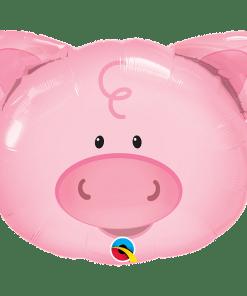 Schweinegesicht, Folienballon, B76cm