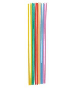 Spaghettikerzen (gewachster Docht), bunt sort., 12er Pack, L 17 cm
