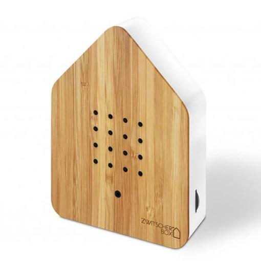 Zwitscherbox Bambus B 110 x H 145 x T 35mm Ahorn ABS Kunststoff schraeg