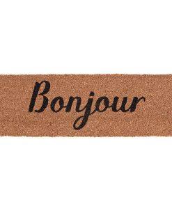 Fussmatte, ''Bonjour'', schwarz-gold, 75cm