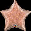 Glittergrafik Rosegold, Stern, Folienballon, 45 cm