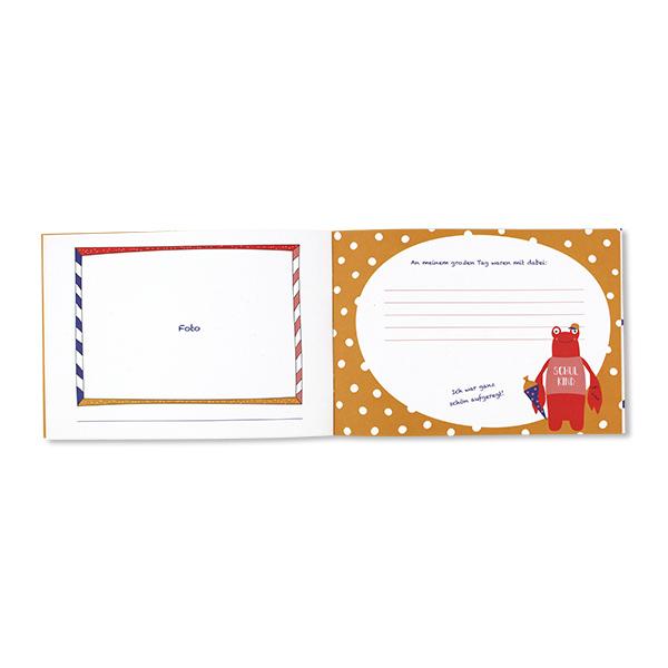 Ich bin Schulkind, Einschulungsalbum,– Hummer und Hammerhai, A5, 24 Seiten, Cover, Seitenbeispiel 3
