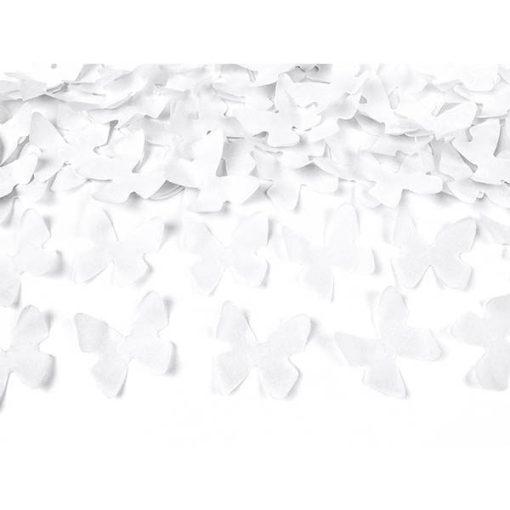 Konfettishooter, Seidenpapier-Schmetterlinge weiß, 80cm, Konfetti