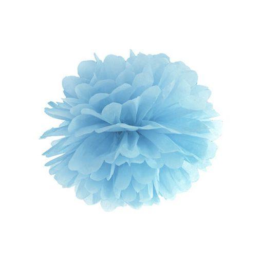 Pompom, light misty blue, 25cm
