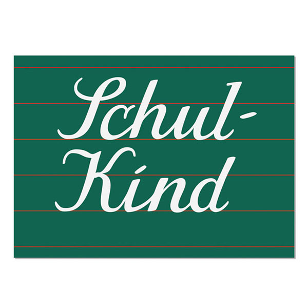 Postkarte Schulkind, DIN C6