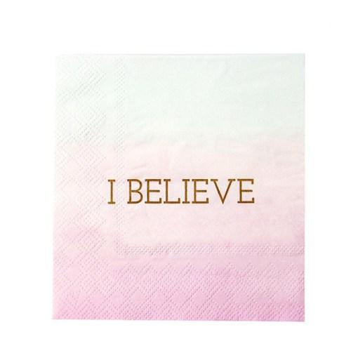 Servietten, pink zu hellblau werdend, Einhorndruck, gold, 25 x 25 cm, 16 Stk, Papier, seite 2