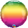 Vibrant Ombre, Regenbogen Farbverlauf, Folienballon rund, 45cm