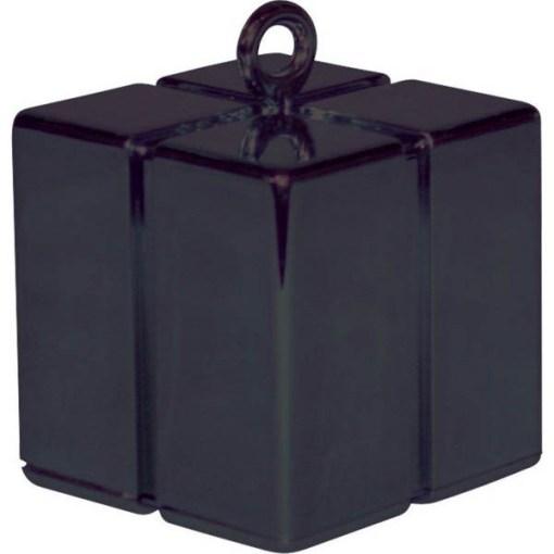 BALLONI, Ballongewicht Geschenkbox, schwarz, 110g, 6,2cm