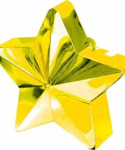 BALLONI, Ballongewicht Stern, Plastik glaenzend gold, 150g, D 9 cm