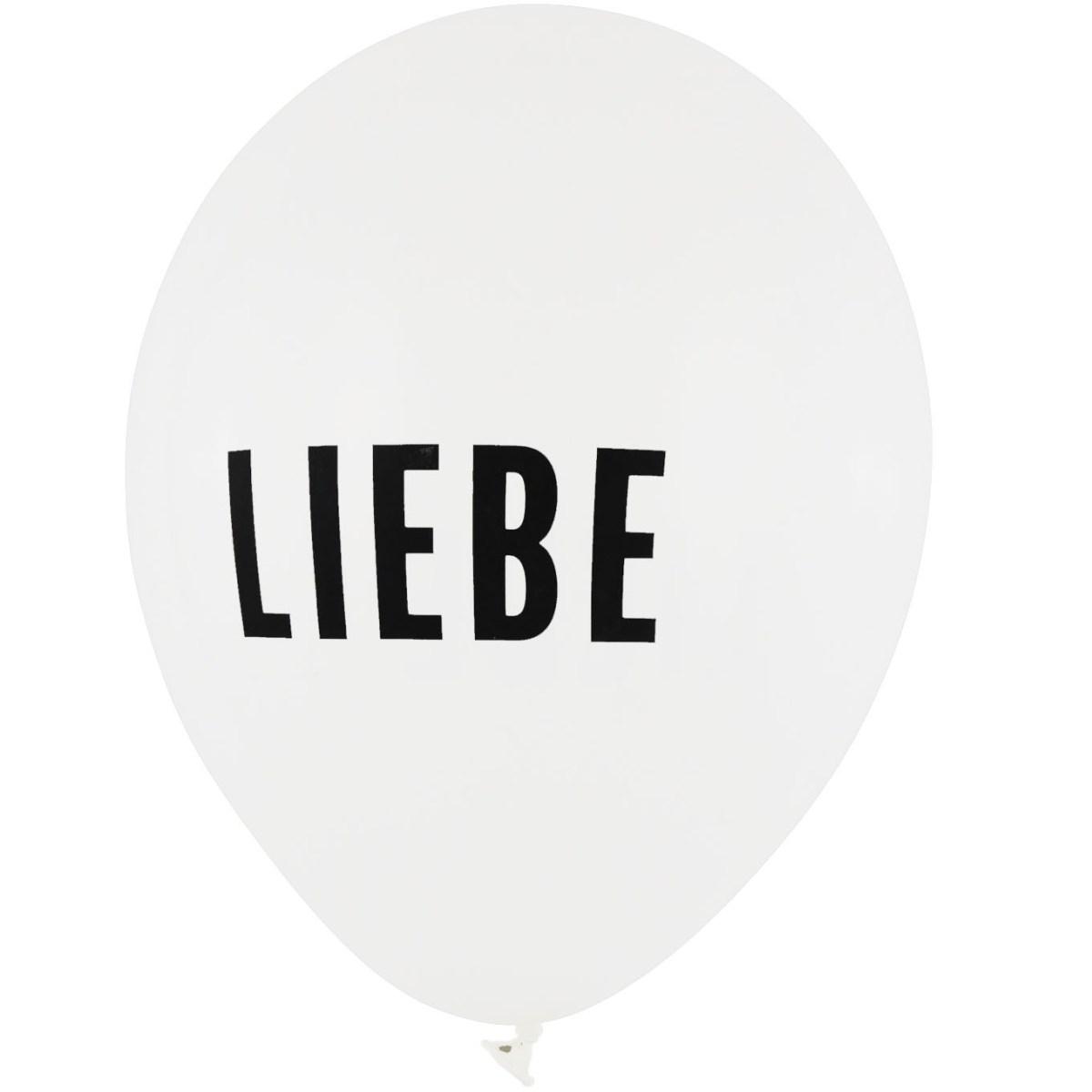 BALLONI DESIGN Latexballon 28cm Liebe weiß