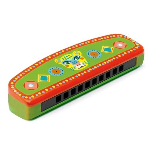 Animambo-Mundharmonika-Metall-Holz-gruen-orange-Tigerkopf-127-x-4-x-25-cm.jpg