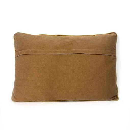 Kissen ''Lieke'', Bezug inklusive Innenkissen, kamelfarben, Samt, 100% Baumwolle-Velour, Rueckseite