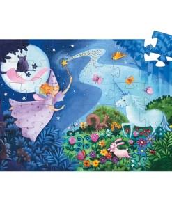 Puzzle ''Fee und Einhorn'', 36 Teile, 42 x 30 cm, gepuzzlet