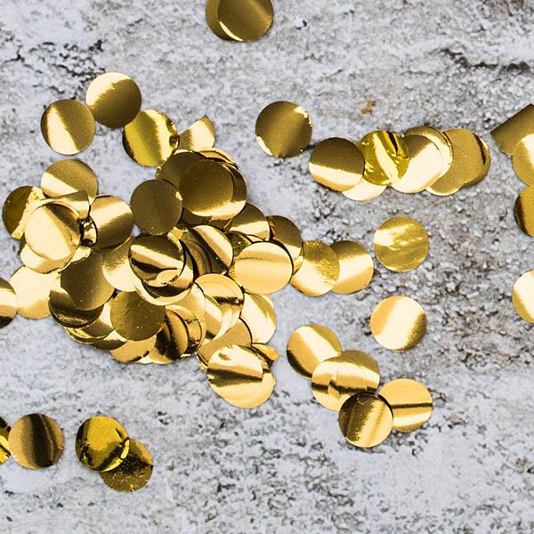 Folienkonfettikreise, gold, 15 g, 2,5cm, Dekobeispiel
