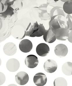 Folienkonfettikreise, silber, 15 g, 2,5cm
