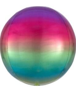 Kugel Regenbogen, Folienballon, 40cm