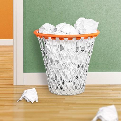 Papierkorb Basketballkorb, Polypropylen, 30,7x32x32 cm, Dekobeispiel