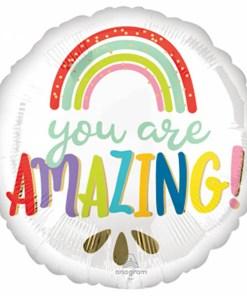 You are amazing, Folienballon, rund, 45cm