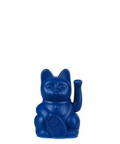 Lucky Cat mini, Kunststoff dunkelblau , 1x AA-Batterie (nicht enthalten), 6,7 x 5,2 x 9,8 cm