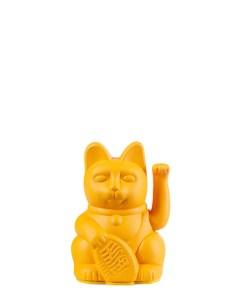 Lucky Cat mini, Kunststoff dunkelgelb, 1x AA-Batterie (nicht enthalten), 6,7 x 5,2 x 9,8 cm