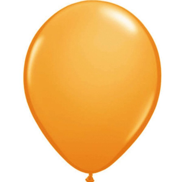 100x Qualatex helium ballonnen oranje