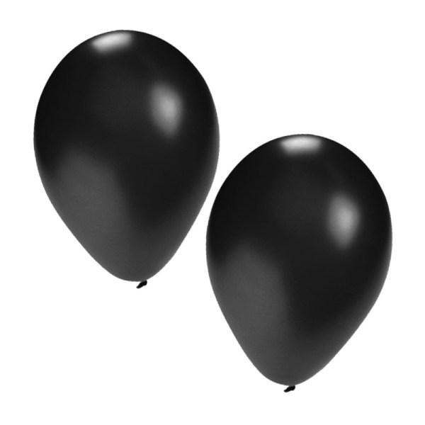 25x stuks zwarte party ballonnen van 27 cm