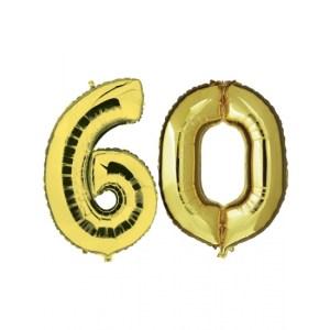 60 jaar folie ballonnen goud