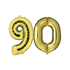 90 jaar folie ballonnen goud