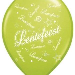 Ballonnen Lentefeest groen/wit